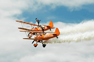 Wallpapers Airplane Sky Gymnastics Two Aviation Sport