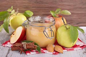 Pictures Apples Cinnamon Star anise Illicium Jar Food