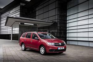 Hintergrundbilder Dacia Bordeauxrot Metallisch 2017 Logan MCV