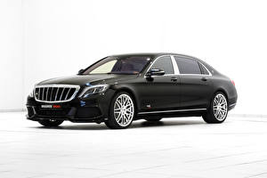 Bilder Mercedes-Benz Brabus Schwarz Weißer hintergrund X222, Brabus, Coupe S-Class automobil