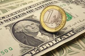 Bilder Geld Geldscheine Dollars Euro Münze 1