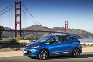Hintergrundbilder Opel Metallisch Blau 2017 Ampera-e auto