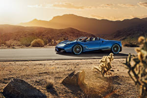 Hintergrundbilder Pagani Metallisch Blau Roadster 2017 Huayra Roadster
