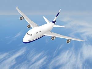 Fotos Flugzeuge Verkehrsflugzeug Himmel Flug Luftfahrt