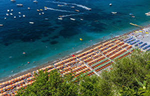 Picture Positano Italy Coast Beaches From above Nature
