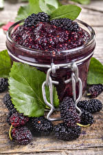 Wallpaper Powidl Blackberry Jar Food