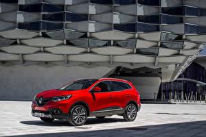 Tapety na pulpit Renault Czerwony 2015 Kadjar X-Mod samochód
