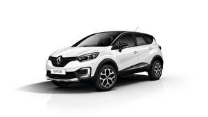 Picture Renault White background White Captur automobile