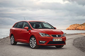 Hintergrundbilder Seat Rot 2015 Ibiza automobil