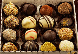 Fotos Bonbon Schokolade Großansicht das Essen