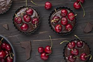 Bilder Kirsche Schokolade Nachtisch Muffin Lebensmittel