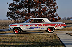 Wallpapers Chevrolet Retro Tuning White Side 1962 Impala SS 409 Lightweight Coupe auto