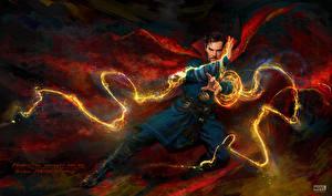 Bilder Doctor Strange 2016 Benedict Cumberbatch Magier Hexer Mann Magie Film Fantasy