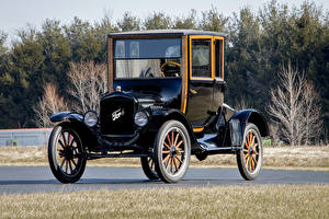 Pictures Ford Vintage Black Metallic 1920 Model T Coupe Cars