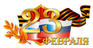Papel de Parede Desktop Feriados Defender of the Day Pátria Fundo branco Russa Bandeira Fita