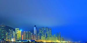 Hintergrundbilder Hongkong China Haus Wolkenkratzer Nacht Städte