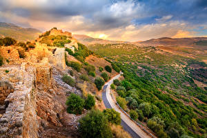 Bilder Israel Park Ruinen Straße Nimrod Fortress National Park Golan Heights Natur