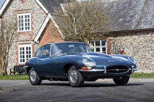 Bilder Jaguar Antik Graue Metallisch 1962-64 E-Type 3.8-Litre Fixed Head Coupe automobil
