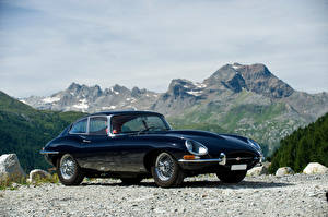 Hintergrundbilder Jaguar Retro Blau Metallisch 1964-67 E-Type 4.2-Litre Fixed Head Coupe auto