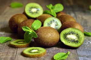 Hintergrundbilder Kiwi Nahaufnahme Bretter Blattwerk das Essen