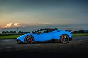 Bilder Lamborghini Hellblau Seitlich 2017 O.CT Tuning Huracan 800 Supercharged Spyder