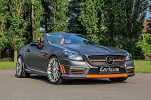 Tapety na pulpit Mercedes-Benz Szara Convertible 2015 CSK 55 Carlsson R172 Samochody