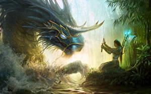 Bureaubladachtergronden Might & Magic Heroes VI Heroes of Might and Magic Draken Krijger Zwaard Computerspellen Fantasy