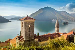 Wallpapers Perast Montenegro Building Sea Mountains Bay Cities