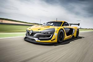 Papel de Parede Desktop Renault Amarelo Movimento 2014 RS 01 Sport Carros
