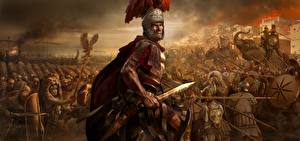 Bilder Rome: Total War Soldaten Mann Schwert Helm Rüstung 2 computerspiel