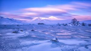 Fotos Schottland Winter Landschaftsfotografie Gebirge Himmel Schnee Rannoch Moor Natur