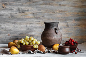 Image Still-life Grapes Pears Berry Pitcher