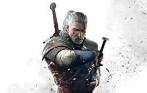 Fotos The Witcher 3: Wild Hunt Geralt von Rivia Krieger Mann Fantasy