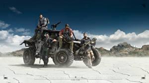 Pictures Tom Clancy Man Assault rifle Ghost Recon Wildlands Games