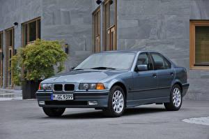 Hintergrundbilder BMW Graues Metallisch Limousine 1995-98 323i Sedan automobil