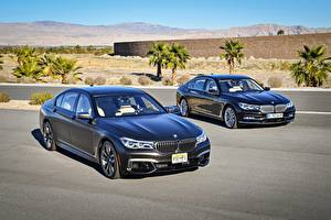 Images BMW Two Blue 2015-17 7 Series Cars