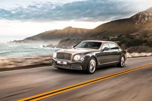Photo Bentley Brown Metallic Expensive At speed 2016 Mulsanne EWB auto
