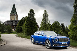 Image Bentley Metallic Blue 2016 Mulsanne Speed Cars