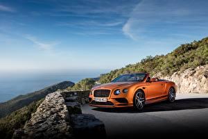 Hintergrundbilder Bentley Orange Cabriolet 2017 Continental Supersports Worldwide auto