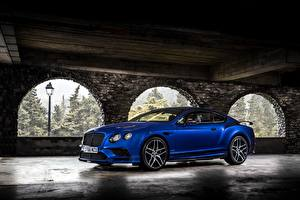 Wallpapers Bentley Blue 2017 Continental Supersports Worldwide Cars