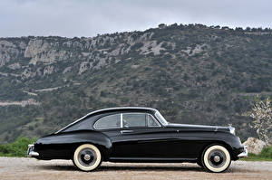 Bilder Bentley Retro Schwarz Metallisch Seitlich 1953-55 R-Type Continental Sports Saloon by Mulliner AT auto