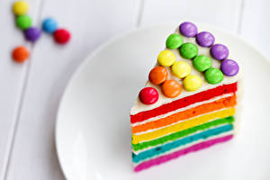Wallpapers Birthday Cakes Piece Multicolor Food