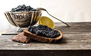 Fotos Caviar Butterbrot Brot Bretter Löffel das Essen