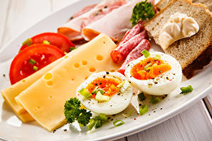 Hintergrundbilder Käse Wurst Brot Gemüse Frühstück Ei