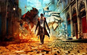 Papel de Parede Desktop Devil May Cry Dante Homem