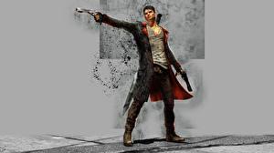 Papel de Parede Desktop Devil May Cry Homem Dante Pistolas