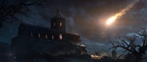 Bakgrundsbilder på skrivbordet Diablo III Borg Natt Datorspel Fantasy