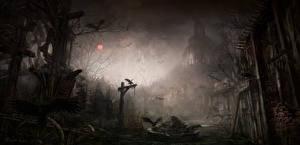 Hintergrundbilder Diablo III Aaskrähe Gothic Fantasy Nacht Spiele Fantasy