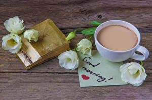 Pictures Eustoma Cocoa English Cup Book Heart Flowers