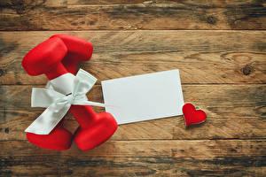 Hintergrundbilder Feiertage Bretter Geschenke Hantel Herz Vorlage Grußkarte Schleife